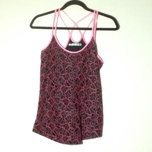 Maurices Dressy Tank W/ Straps On Back Neon Pink L